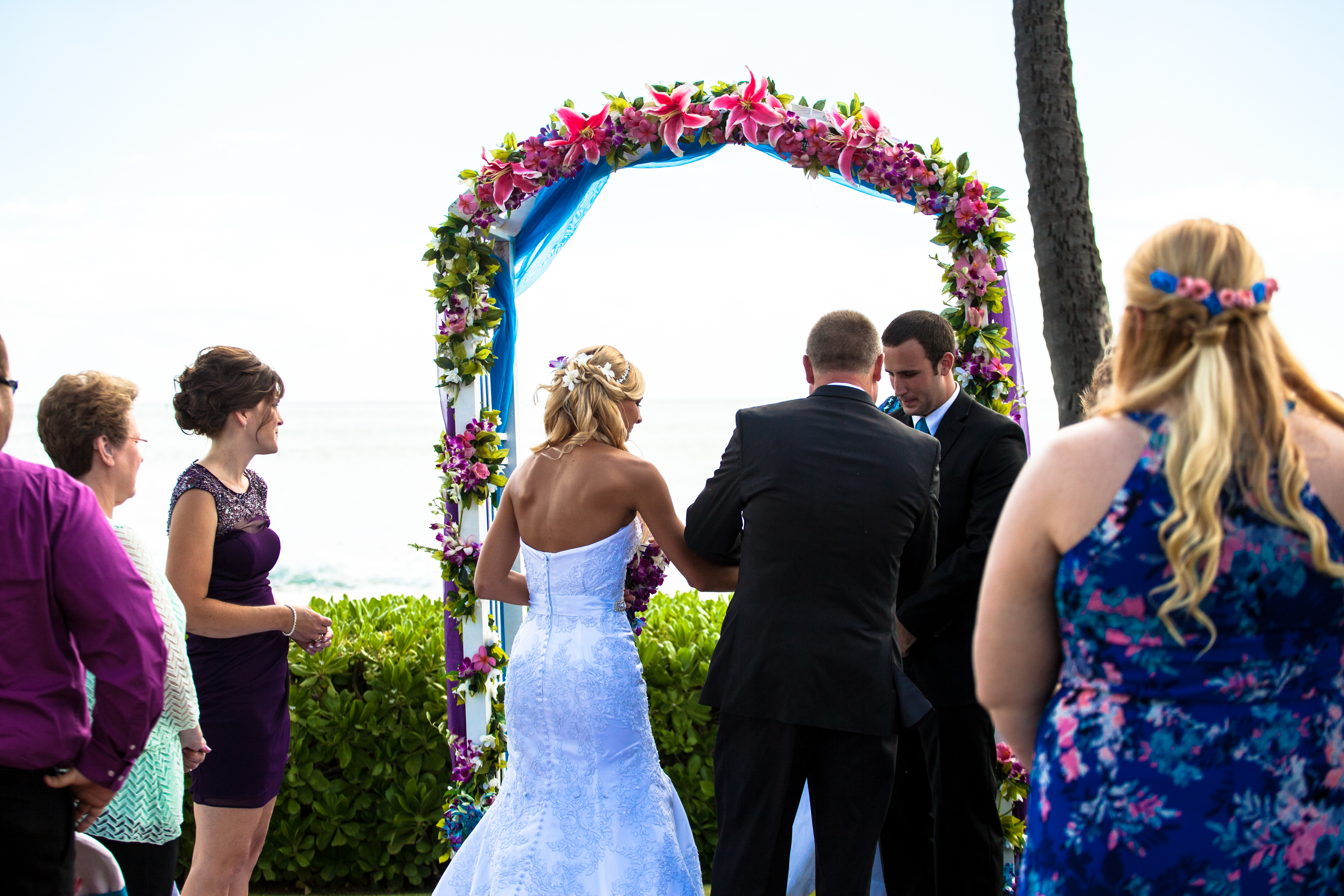flowers with white wedding Arch 15