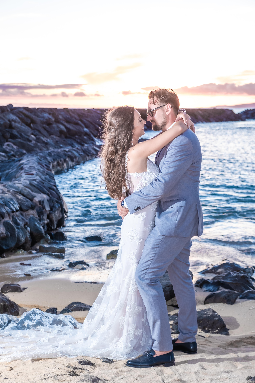 Magic island Hawaii beach wedding -30