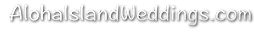 Alohaislandweddings black and white logo