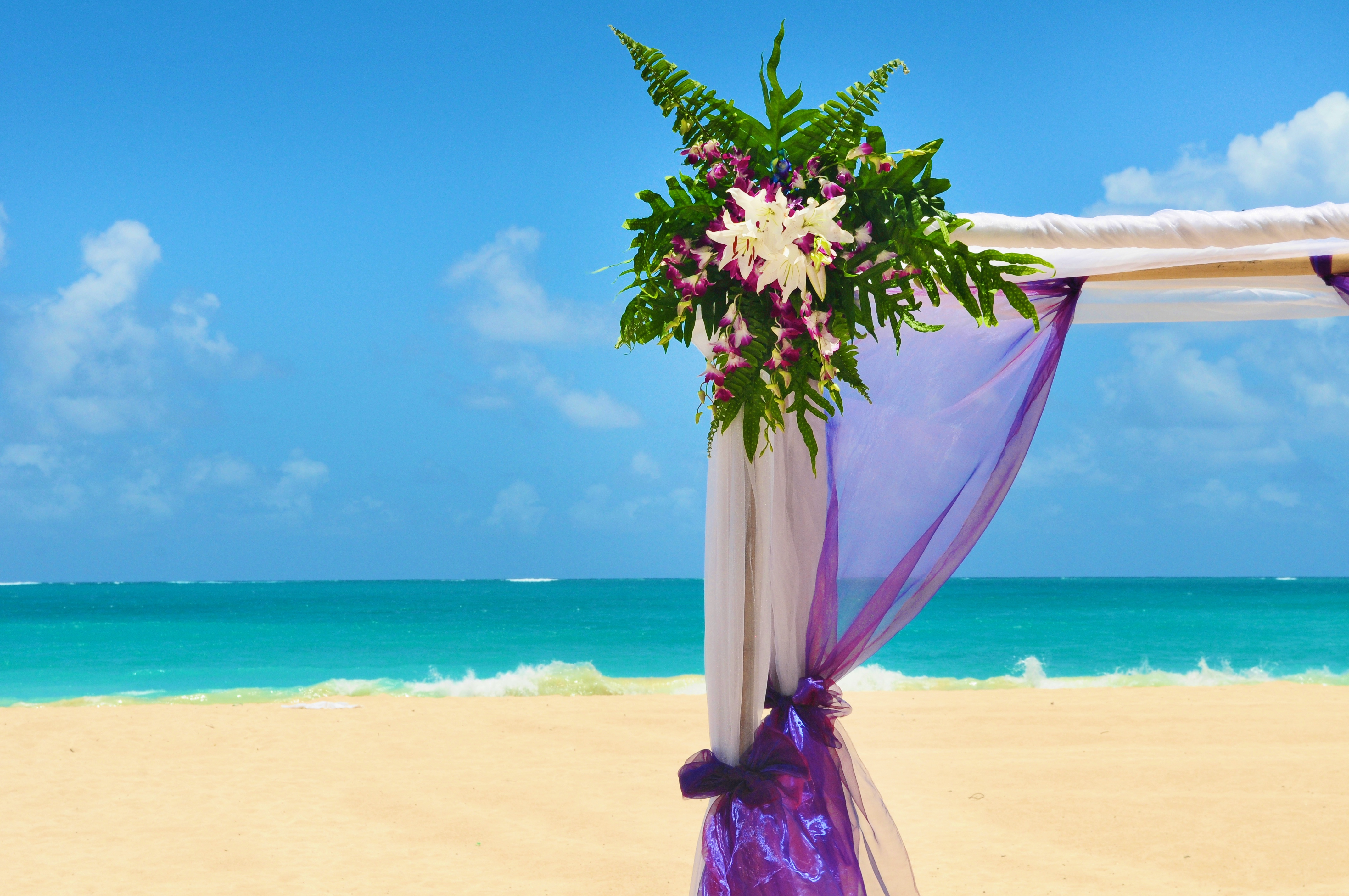 Orchid wedding in Hawaii 3