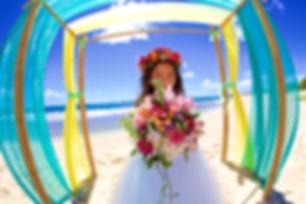 Wedding Flowers girl in Hawaii
