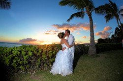 Sunset hawaii Wedding Picture -12