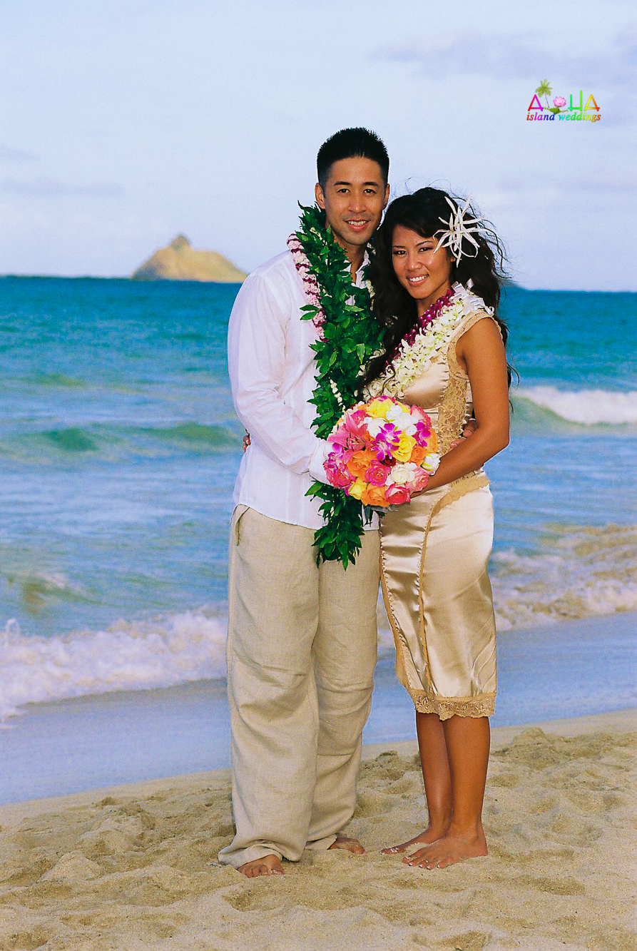 Beach wedding in Kailua-75