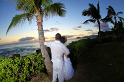 Sunset hawaii Wedding Picture -21