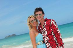 Hawaii beach wedding - lotus car 20
