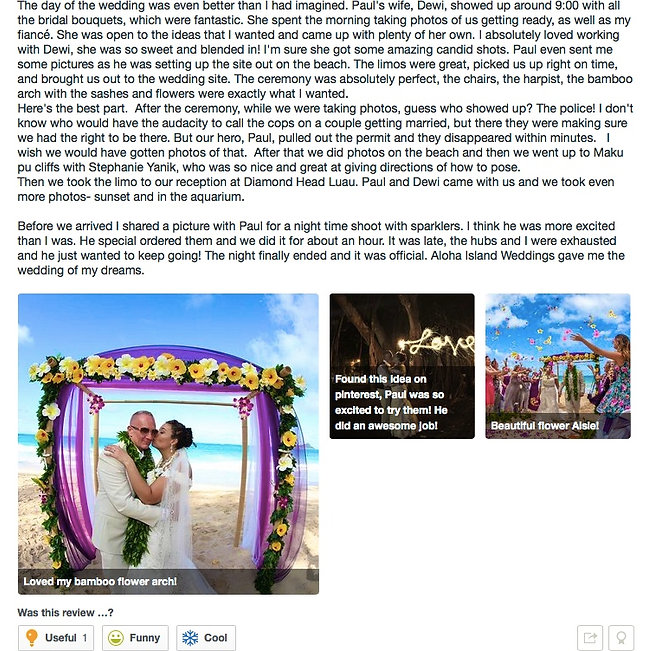 Review from wedding couples 12