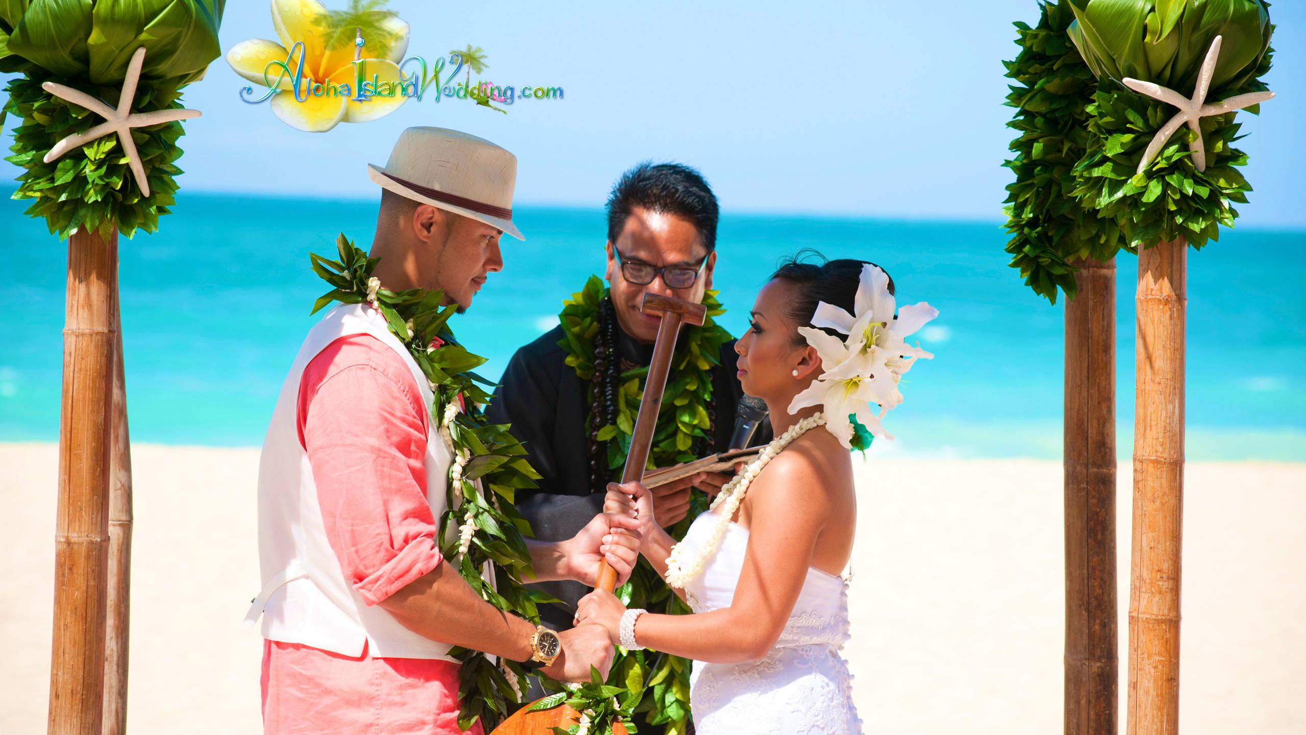 Hawaiian wedding ceremony