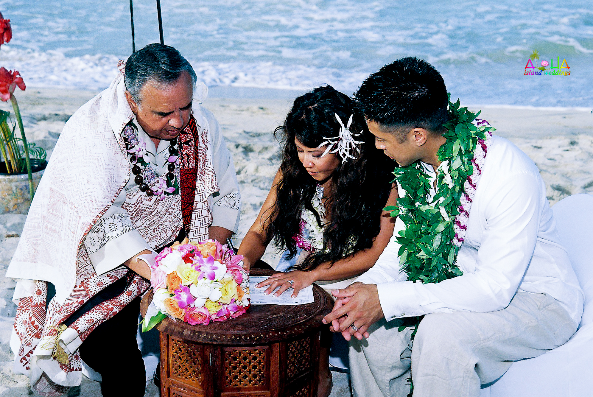Beach wedding in Kailua-111