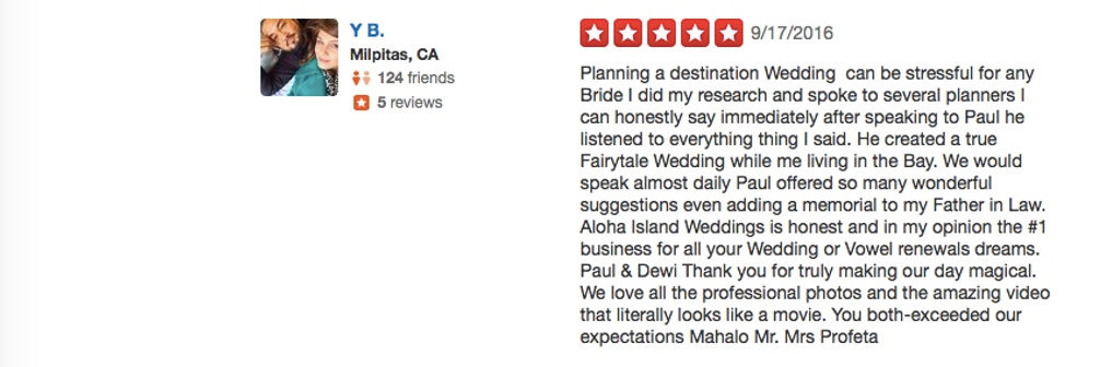 Hawaii Wedding review 91
