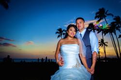 Sunset wedding in hawaiisunset 2