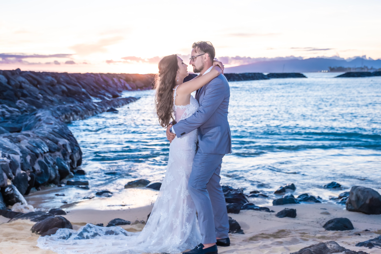 Magic island Hawaii beach wedding -27