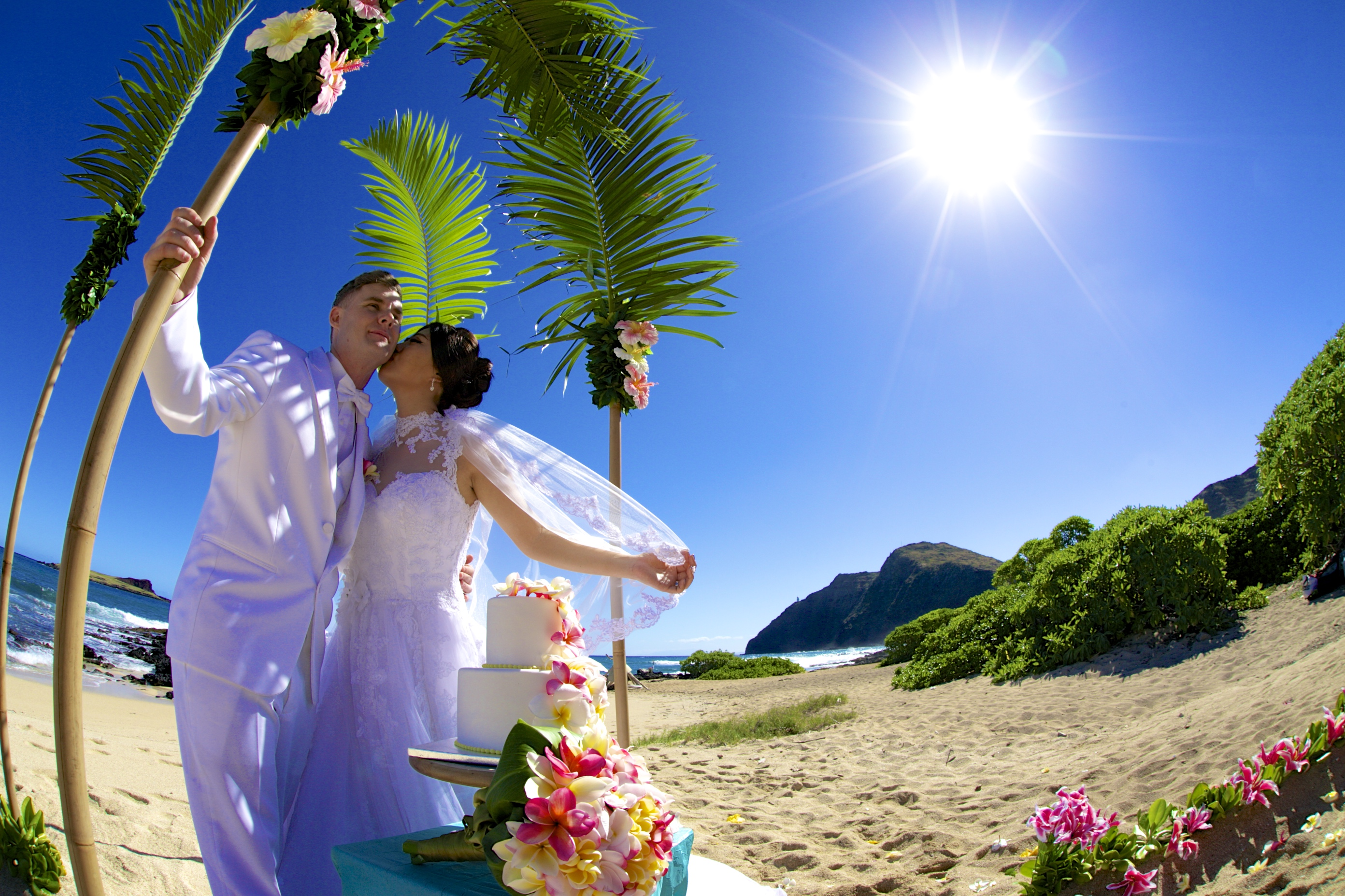 Chinese wedding in Hawaii ceremony
