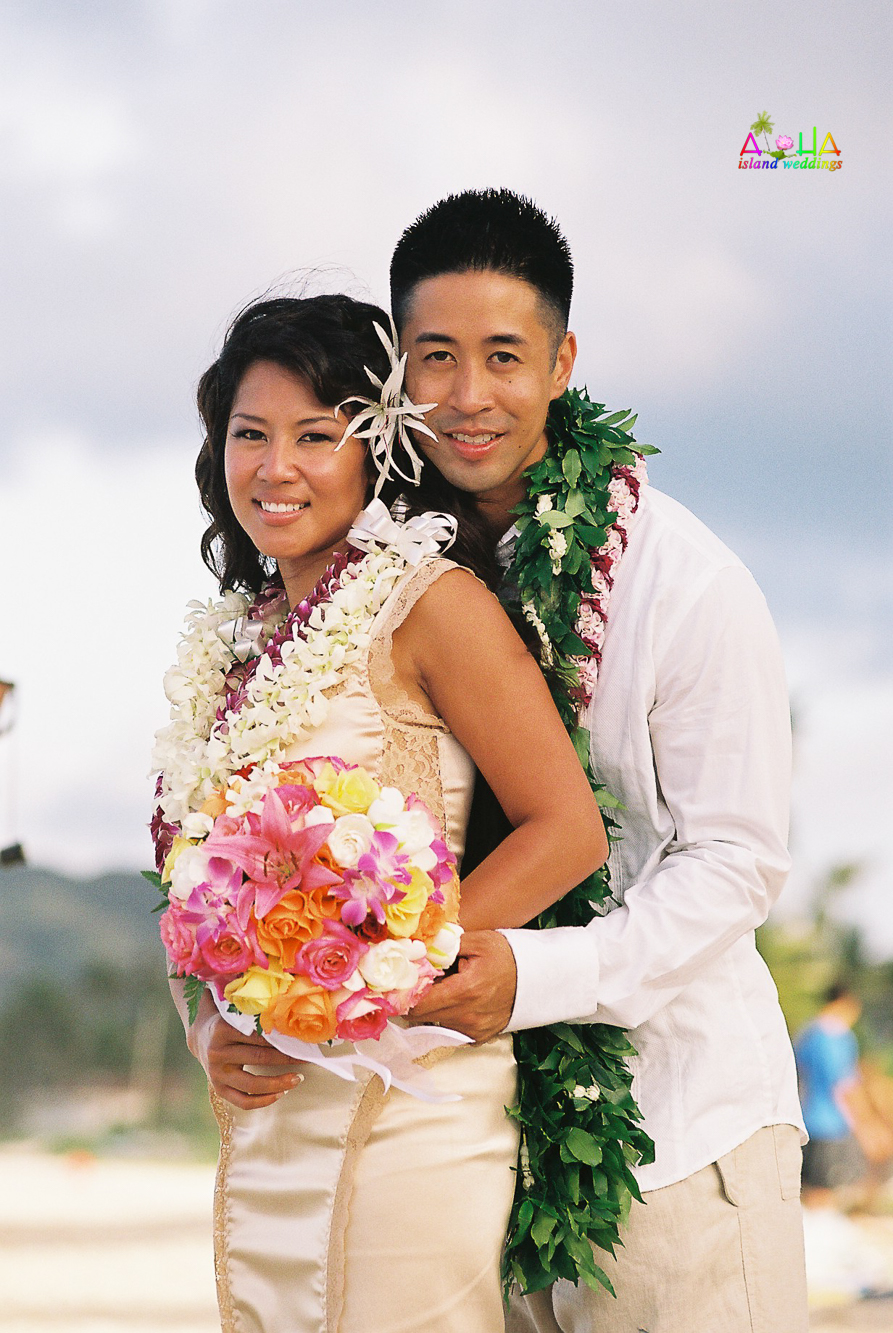 Beach wedding in Kailua-69
