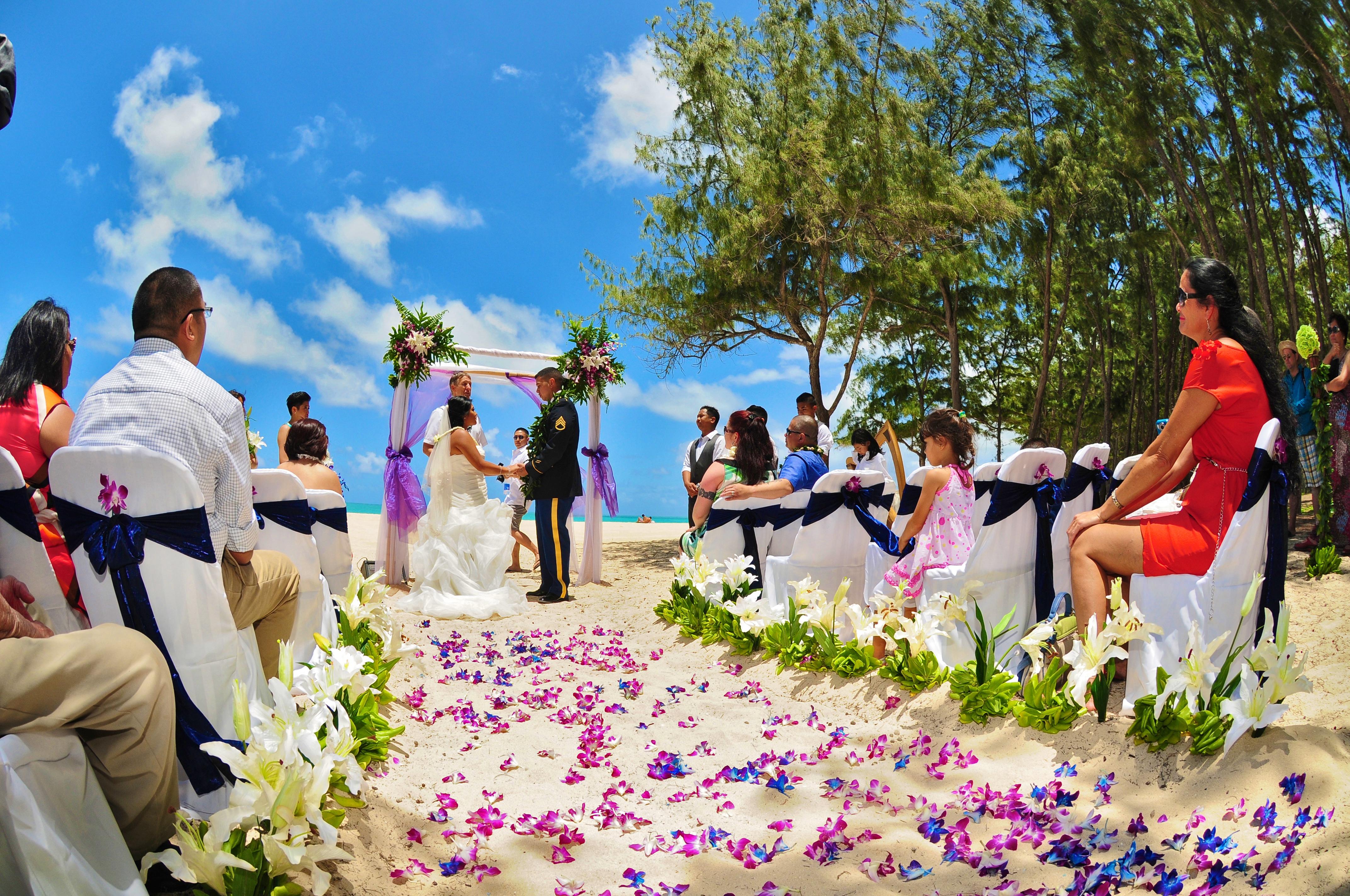 Hawaii wedding Bamboo Arch 1