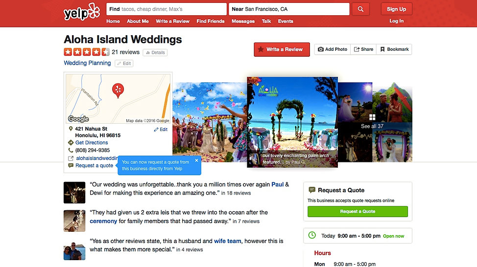 Wedding In Hawaii for reviews