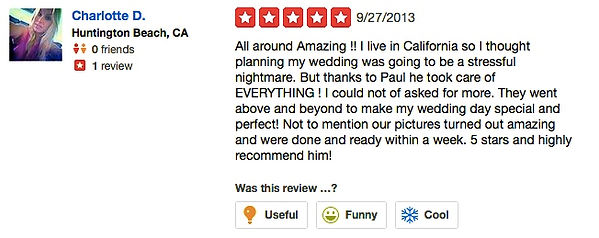 Review from wedding couples 3