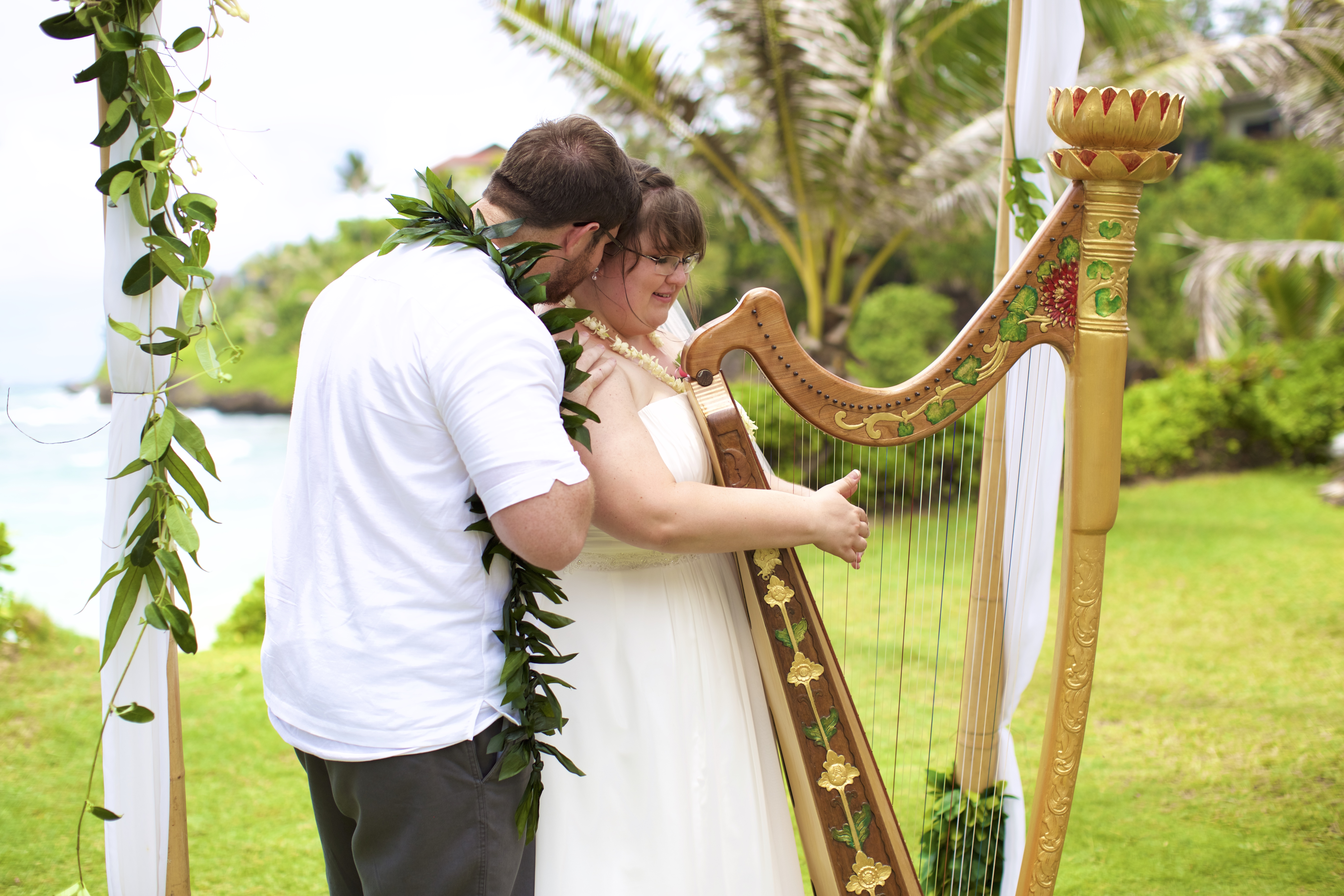 Oahu Harp musician