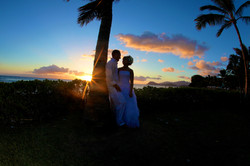 Sunset hawaii Wedding Picture -10