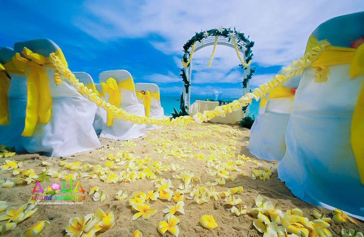 Plumeria-wedding-arch-alohaislandwedding