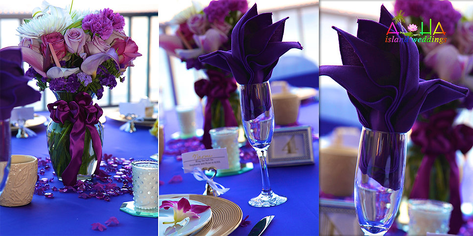 reception beach house with tiffini themed wedding
