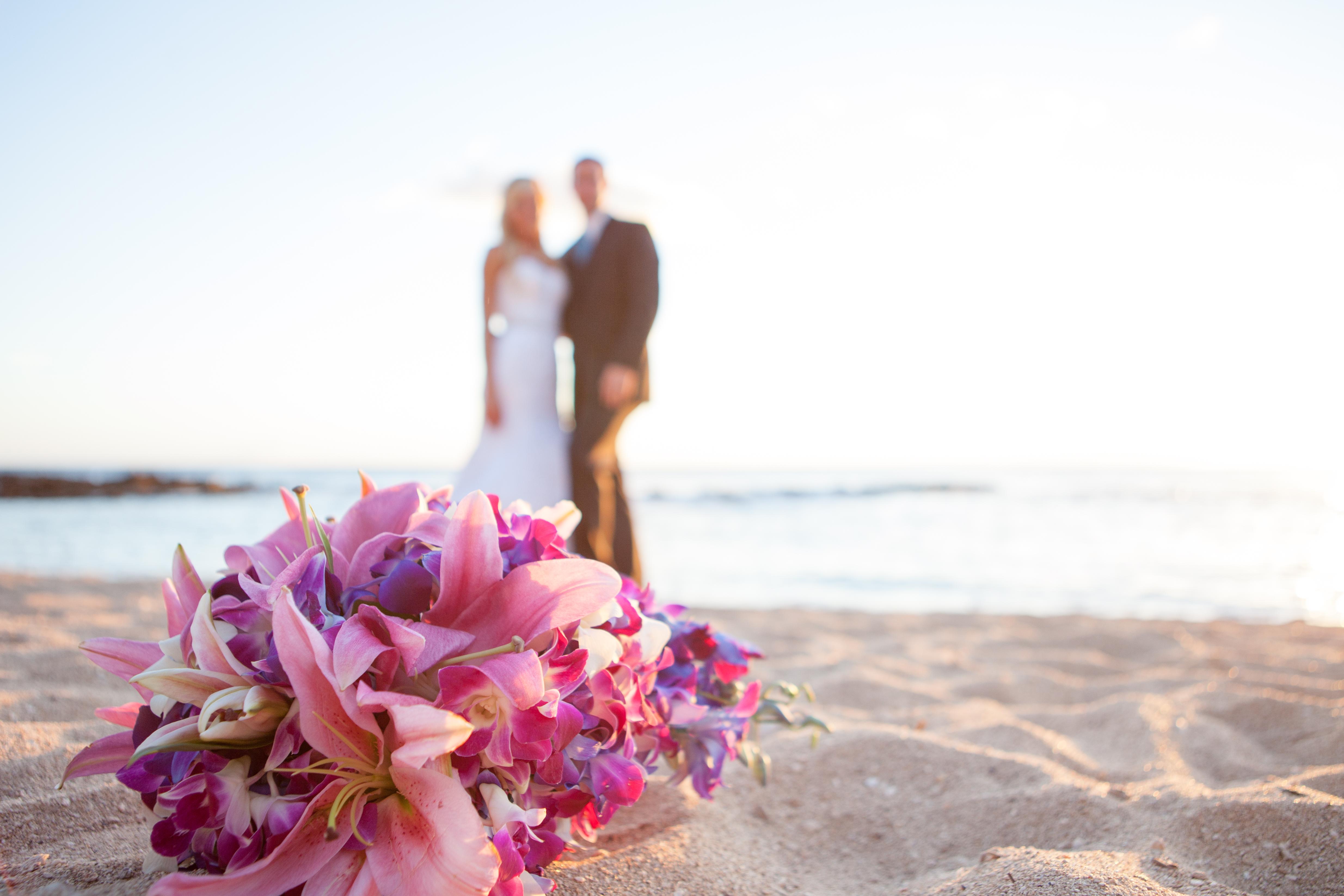 Hawaii bride bouquet