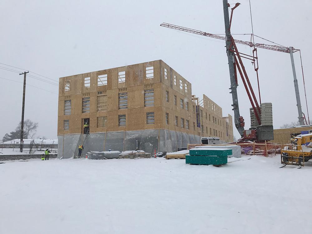 Passive Hook & Ladder Building under construction