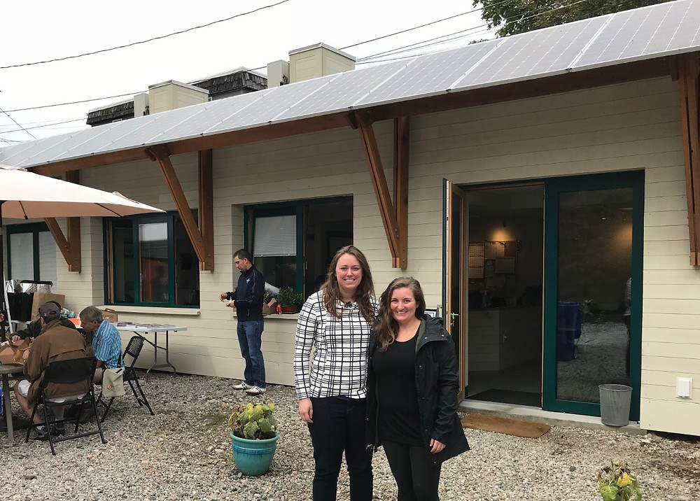 Elizabeth and Lindsey tour a PHIUS+ 2015 Certified project after presenting at the North American Passive House Conference in Boston