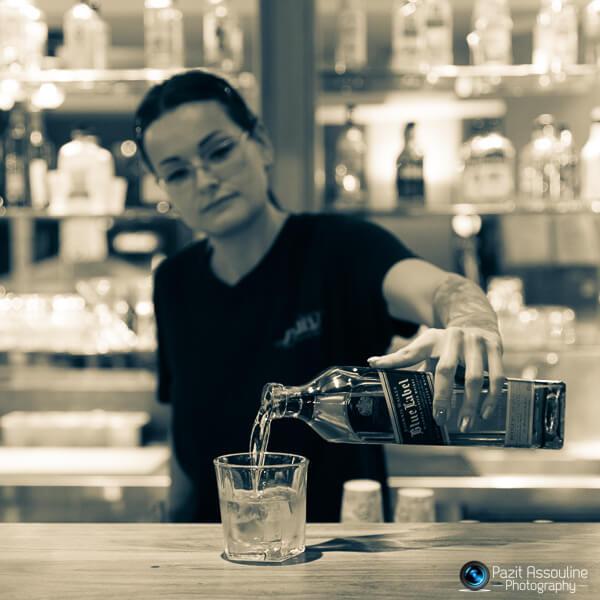 וויסקי, צילום משקאות ואווירה פזית אסולין