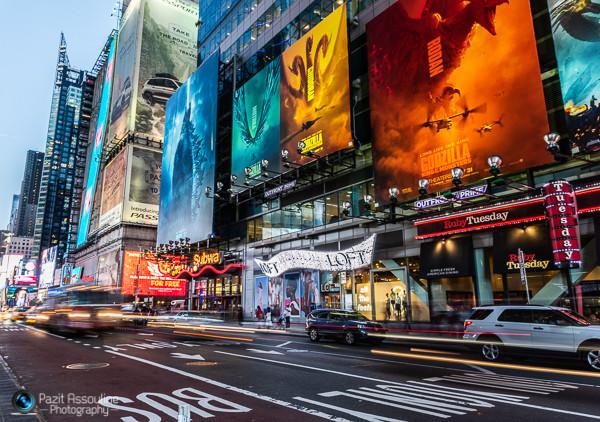 ניו יורק, עומס בחשיפה ארוכה, צילום פזית אסולין