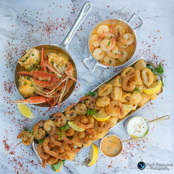 פירות ים, הזקן והים יפו, צילום מזון וסטיילינג פזית אסולין