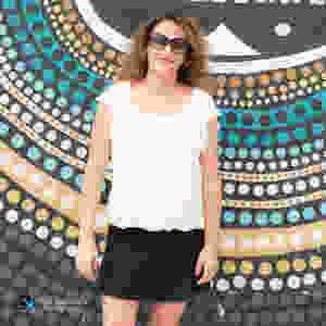 פזית אסולין, חצובה ושלט, סלפי בשכונת ויינווד, מיאמי