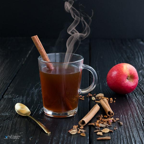 צילום משקאות לתפריט בית קפה, סיידר חם, צילום פזית אסולין