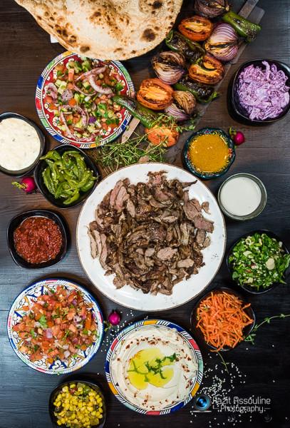 צבעוני וטרי, צילום תפריט למסעדת שיפודים, צילום פזית אסולין
