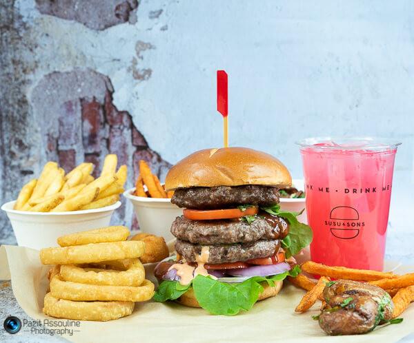 המבורגר של סוסו, צילום מזון וסגנון פזית אסולין