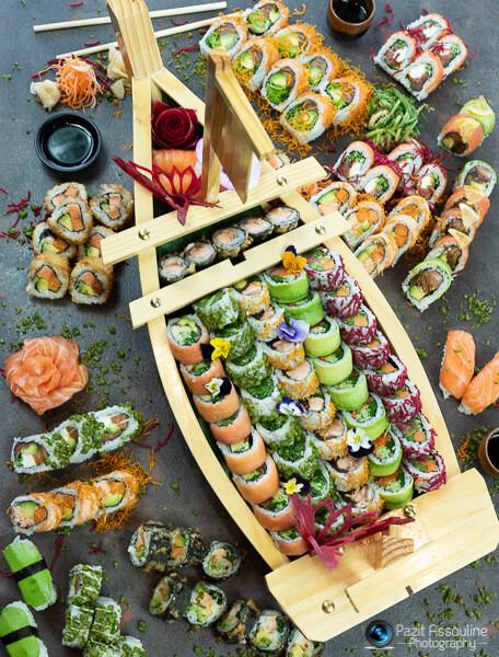 סושי, צילום אוכל לג׳פניקה כולל סטיילינג מזון פזית אסולין
