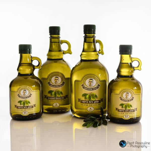 צילום בקבוקי שמן זית, פזית אסולין