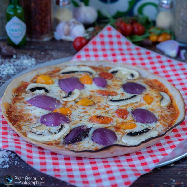 פיצה ללא גלוטן, הכנה: תמיר, פיצה מלדיני, צילום מזון וסטיילינג מזון פזית אסולין