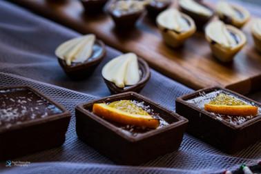מיני טארטלטים במילוי שוקולד בלגי