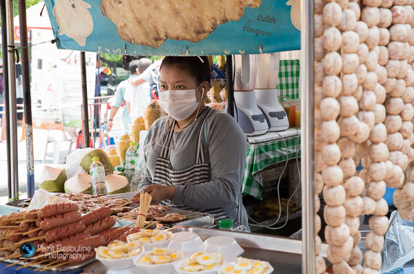 דוכני אוכל, שוק סוף שבוע, בנקוק, צילום פזית אסולין