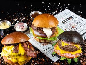 צילום תפריט למסעדת המבורגרים
