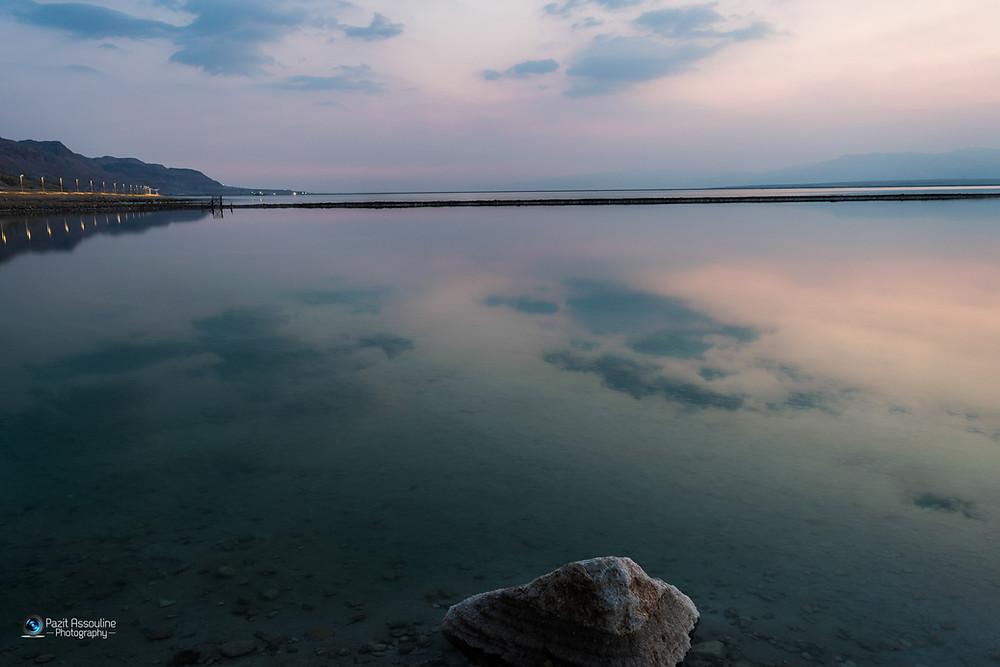 מים ושמיים, זריחה בים המלח, צילום: פזית אסולין