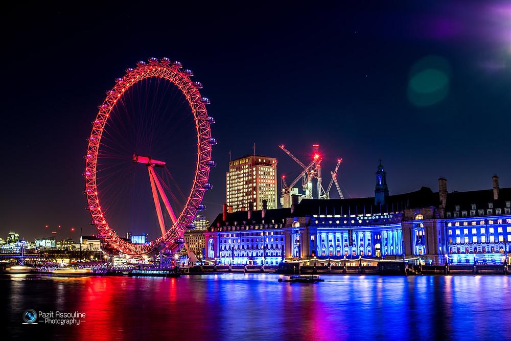 לונדון, גלגל ענק בחשיפה ארוכה , צילום, פזית אסולין
