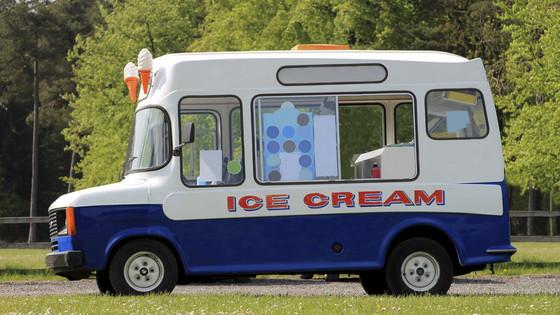 Handing over the keys to the ICECReam van