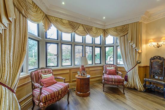 Custom masonry bay window