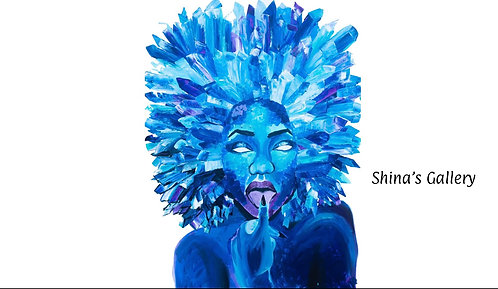 Face Mask + Matching Art Print - Shyna