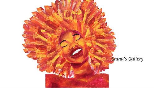 Face Mask + Matching Art Print - Shina