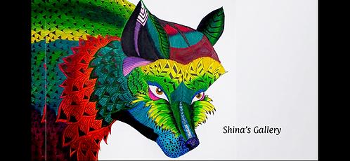 Face Mask + Matching Art Print - Foxy