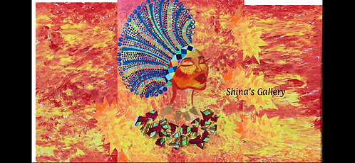 Face Mask + Matching Art Print - Zulu Queen