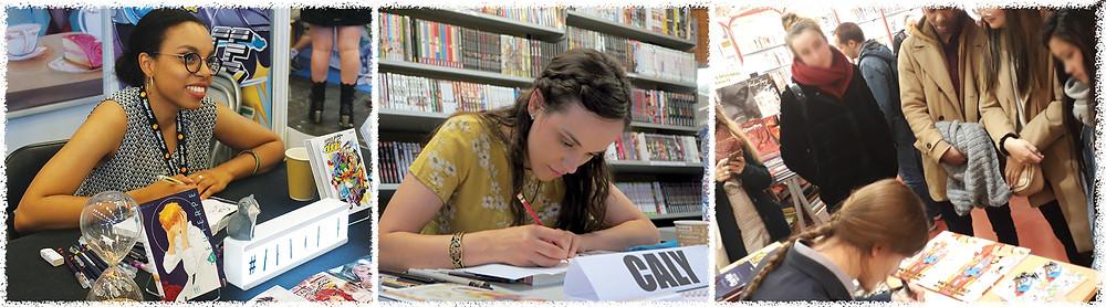 Auteurs des Editions H2T en dédicace pour les 48HBD (Art-of-K, Caly et Villmo')