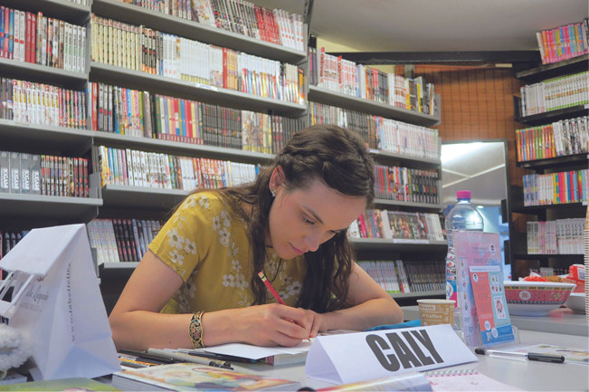 CALY en dédicace - manga Hana No Breath - Editions H2T